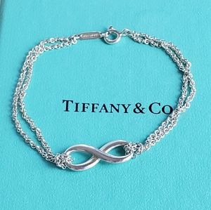 Tiffany Infinity Double Chain Bracelet